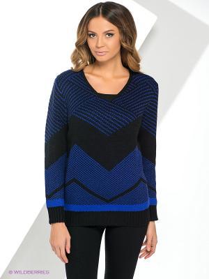 Пуловер Yuka. Цвет: черный, синий