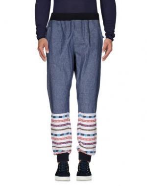 Джинсовые брюки GIULIANO FUJIWARA. Цвет: синий