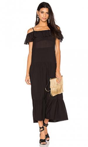 Макси платье juliet IRO. Цвет: черный