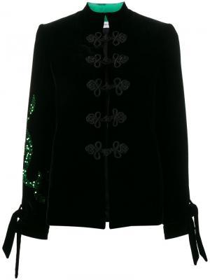 Расшитый пайетками пиджак Beau Souci. Цвет: чёрный