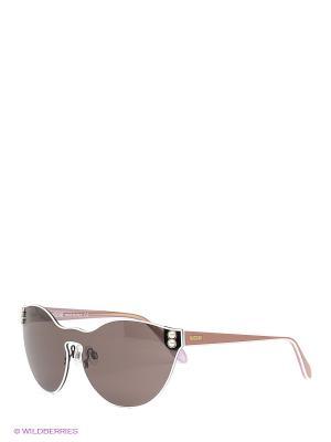 Солнцезащитные очки MO 743S 04 MOSCHINO. Цвет: коричневый
