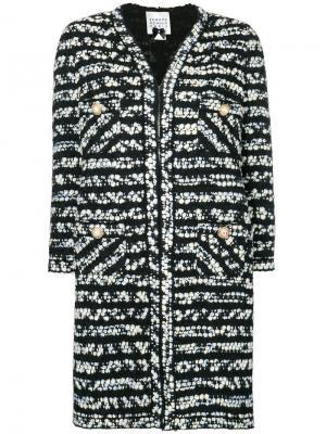 Пальто с узором Edward Achour Paris. Цвет: многоцветный