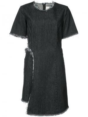 Платье из денима Peanuts Sandy Liang. Цвет: чёрный
