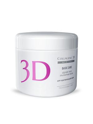 Альгинатная маска Basic Сare 200 г Medical Collagene 3D. Цвет: белый, розовый