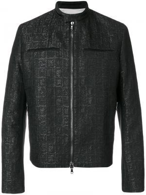 Куртка на молнии Rochas. Цвет: чёрный