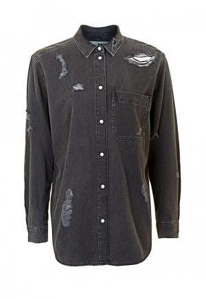 Рубашка джинсовая Topshop. Цвет: черный