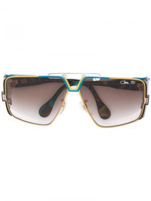 Солнцезащитные очки в крупной оправе Cazal. Цвет: многоцветный