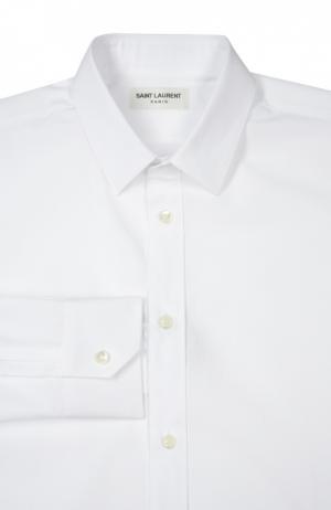 Сорочка Saint Laurent. Цвет: белый