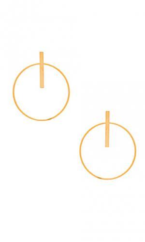 Серьги ashton Amber Sceats. Цвет: металлический золотой