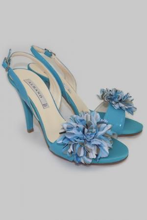 Босоножки Albano. Цвет: голубой