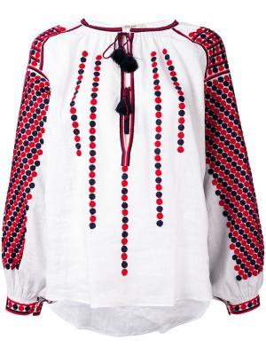 Блузка с вышивкой Vita Kin. Цвет: белый