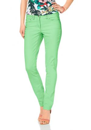 Джинсы Aniston. Цвет: зеленый