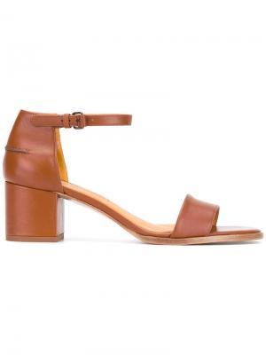 Босоножки на каблуке средней высоты Veronique Branquinho. Цвет: коричневый