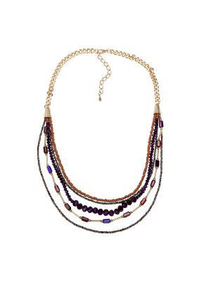 Ожерелье Модные истории. Цвет: фиолетовый
