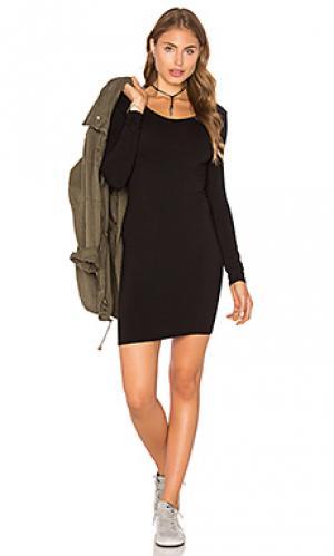 Платье sandra LA Made. Цвет: черный
