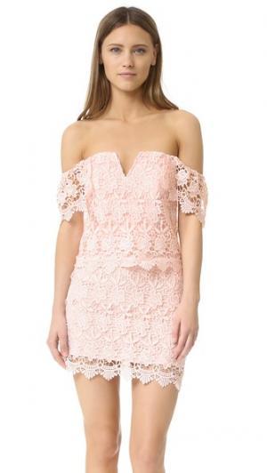 Кружевное платье Melody Yumi Kim. Цвет: розовый