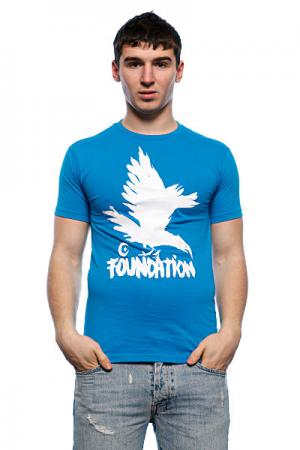 Футболка  F-Ink Crow Turquoise Foundation. Цвет: голубой