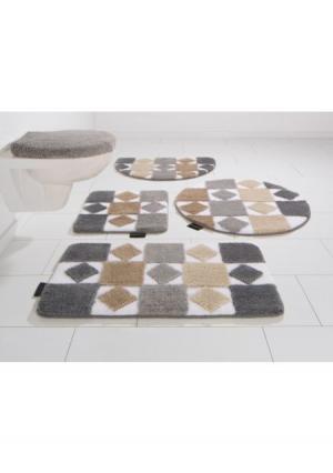 Коврик для ванной Radasta BRUNO BANANI. Цвет: серо-коричневый, синий, терракотовый
