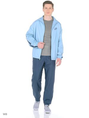Спортивный костюм M NSW TRK SUIT WVN SEASON Nike. Цвет: серо-голубой