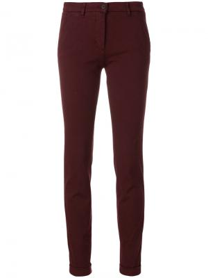 Зауженные брюки-чинос Via Masini 80. Цвет: красный