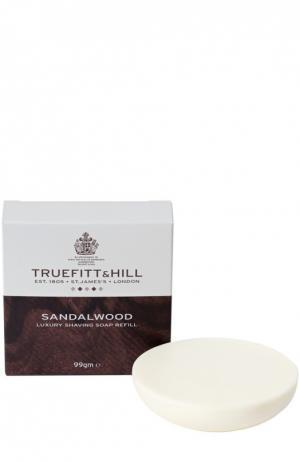 Люкс-мыло для бритья Sandalwood (запасной блок деревянной чаши) Truefitt&Hill. Цвет: бесцветный