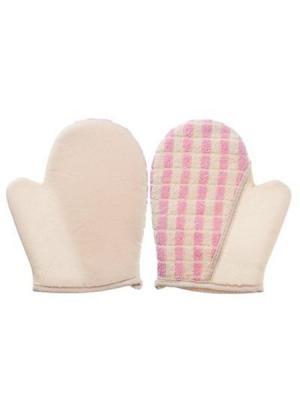 Мочалка банная KONONO. Цвет: белый, розовый