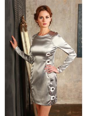 Платье Ника мини Вестетика 61093/СЕРЕБРО
