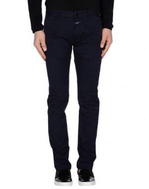 Повседневные брюки CLOSED. Цвет: темно-синий