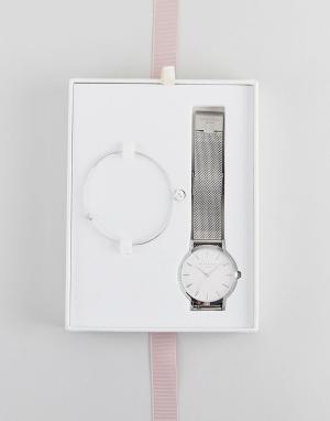 Rosefield Часы 38 мм и браслет в подарочном наборе Mercer. Цвет: серебряный