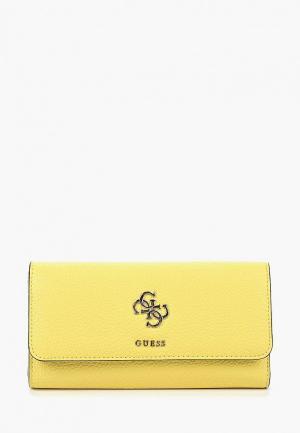Кошелек Guess. Цвет: желтый