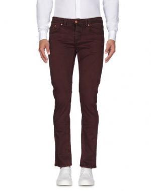 Повседневные брюки (M) MAMUUT DENIM. Цвет: красно-коричневый