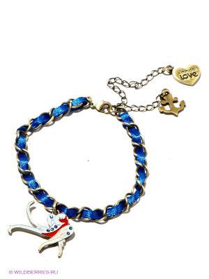 Женский браслет Морячка Салли ( путешественница ) Kimmidoll. Цвет: золотистый, синий