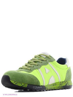 Кроссовки Covani. Цвет: желтый, зеленый