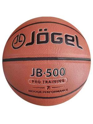 Мяч баскетбольный Jogel JB-500 №7. Цвет: коричневый