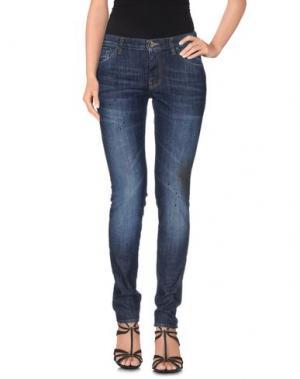 Джинсовые брюки NOVEMB3R. Цвет: синий