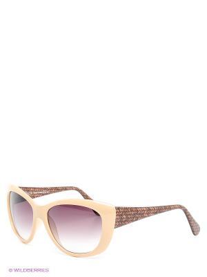 Солнцезащитные очки Franco Sordelli. Цвет: бежевый, коричневый