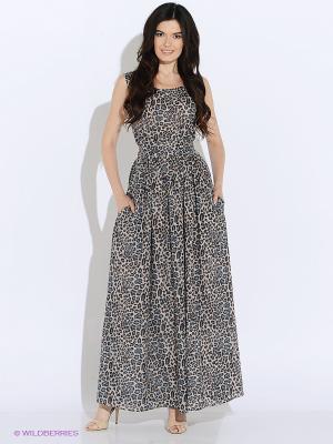 Платье MARBI. Цвет: серо-коричневый