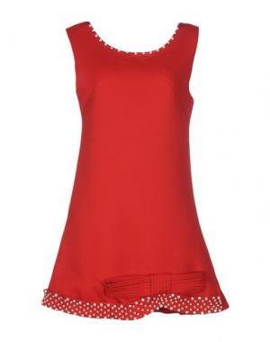 Короткое платье EYEDOLL. Цвет: красный