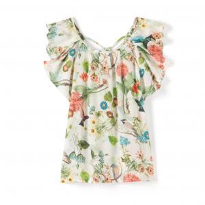 Блузка с воланами, без рукавов, цветочный рисунок MOLLY BRACKEN. Цвет: цветочный рисунок