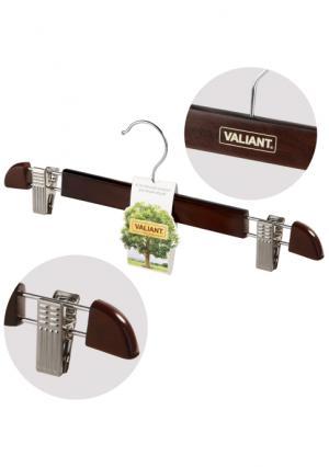 Вешалка деревянная для брюк Valiant. Цвет: коричневый