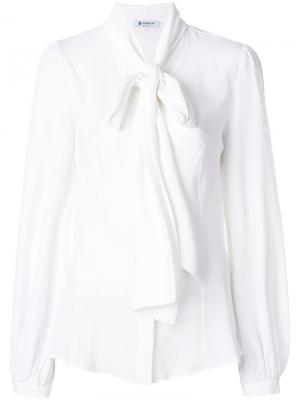 Блузка с завязкой Dondup. Цвет: белый