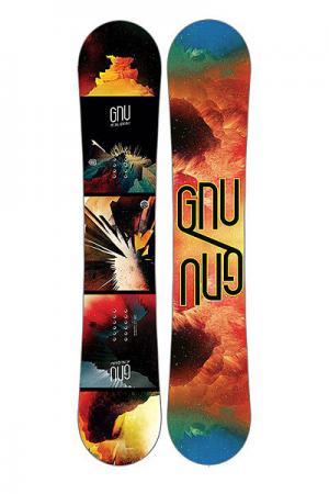 Сноуборд  Metal Gnuru Ec2 Ast GNU. Цвет: мультиколор