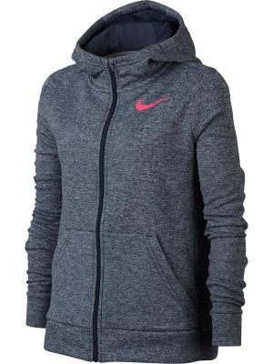 Толстовка G NK THRMA HOODIE FZ Nike. Цвет: синий