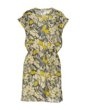 Короткое платье BELLA JONES. Цвет: светло-желтый