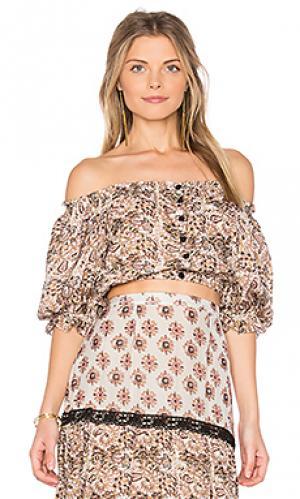 Блузка alexa Carolina K. Цвет: серо-коричневый