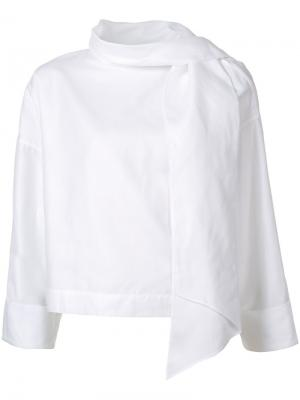 Блузка свободного кроя Rodebjer. Цвет: белый