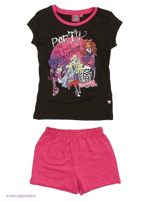 Пижама Monster High. Цвет: черный, фиолетовый