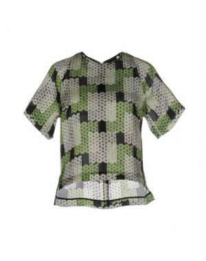 Блузка GIULIANO FUJIWARA. Цвет: зеленый