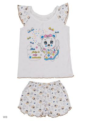 Пижама Babycollection. Цвет: белый, коричневый