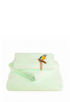 Комплект полотенец 3 шт. Bellehome. Цвет: зеленый